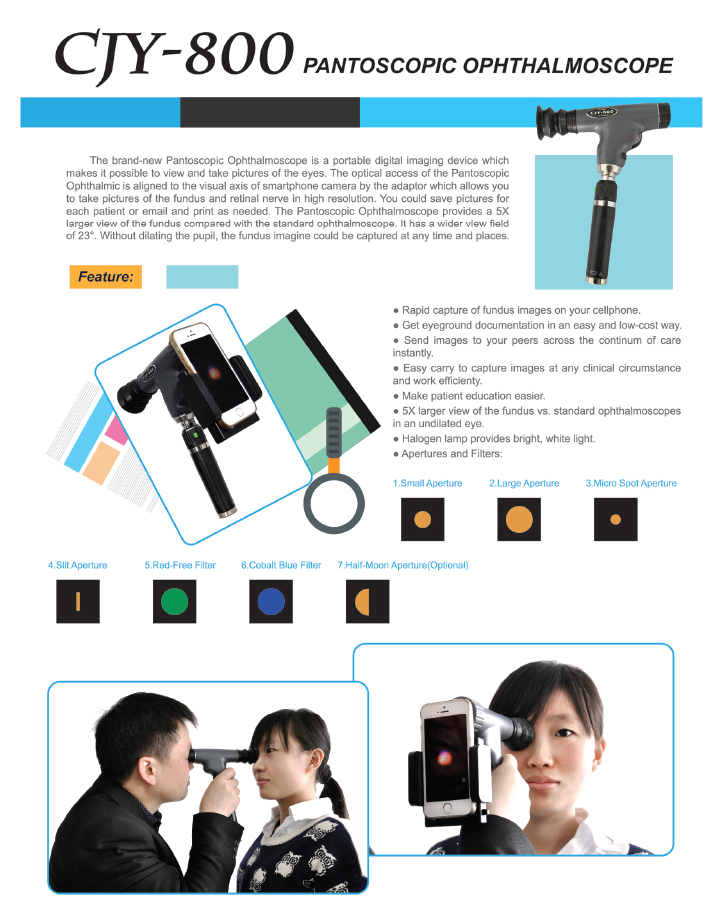 pantoscopic ophthalmoscope